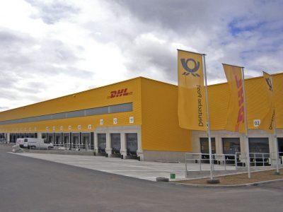 Fuhrpark von DHL Logistikzentrum